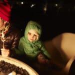 little girl in a winter jacket