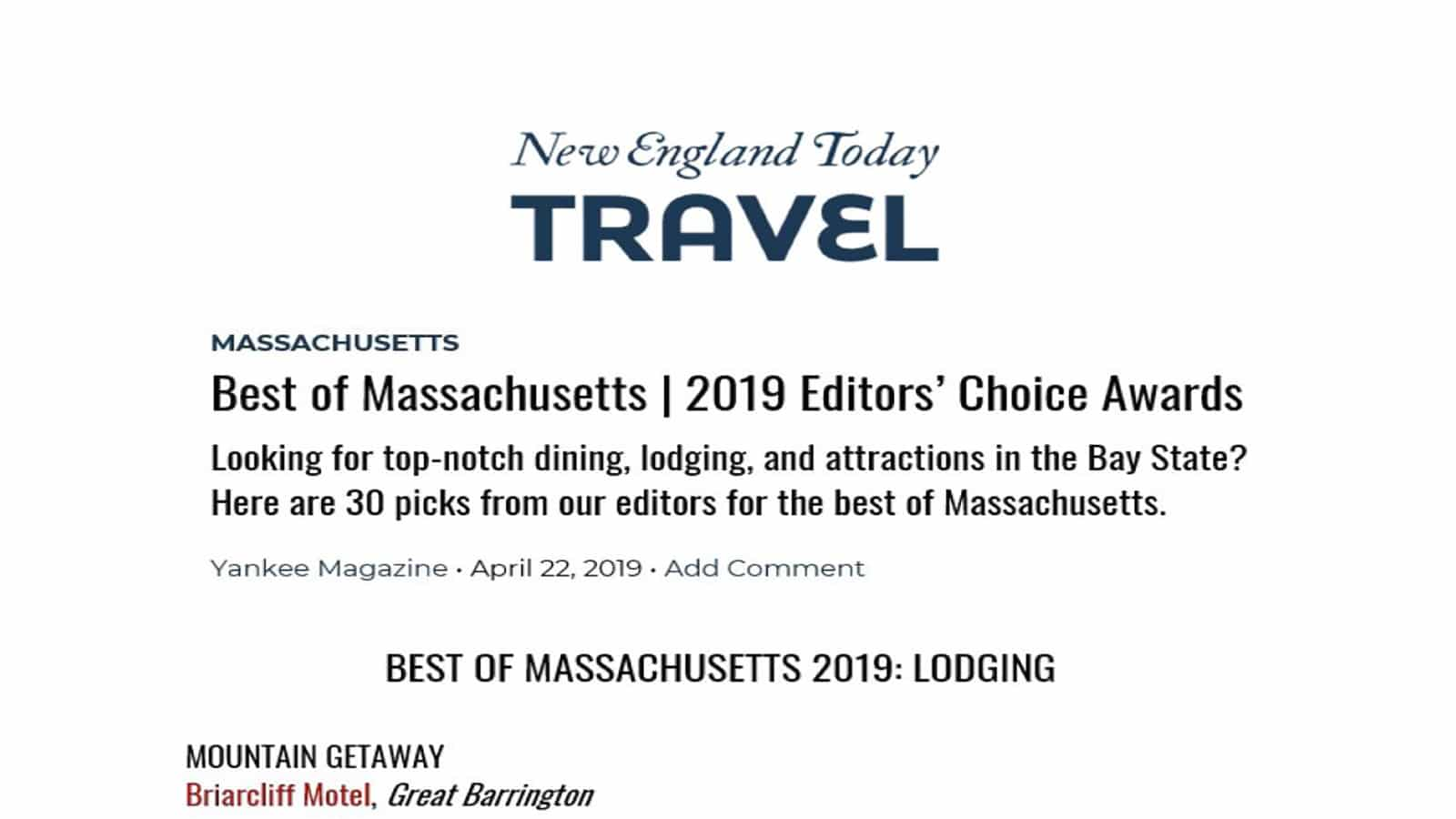 New England Today article